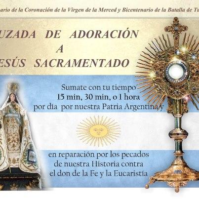Adoración Eucarística pidiendo por Argentina