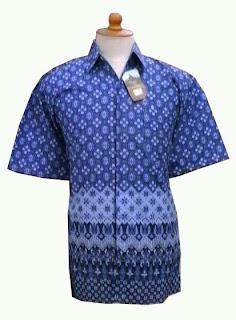 Batik Pria BP-02 Biru Laut