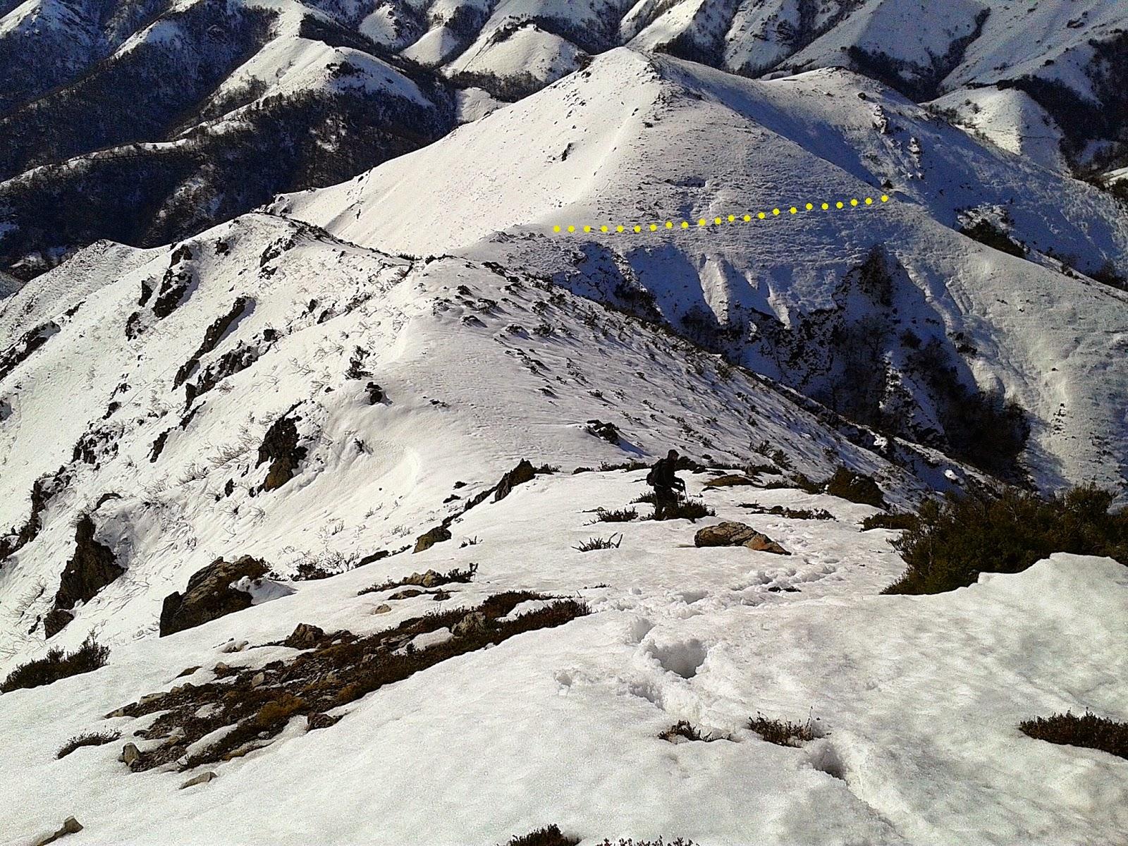 Descendiendo por los Picos Verdes