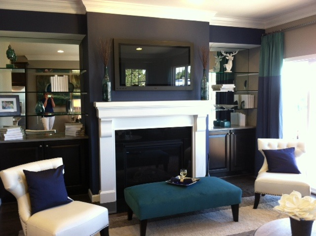 living rooms royal blue and the white on pinterest