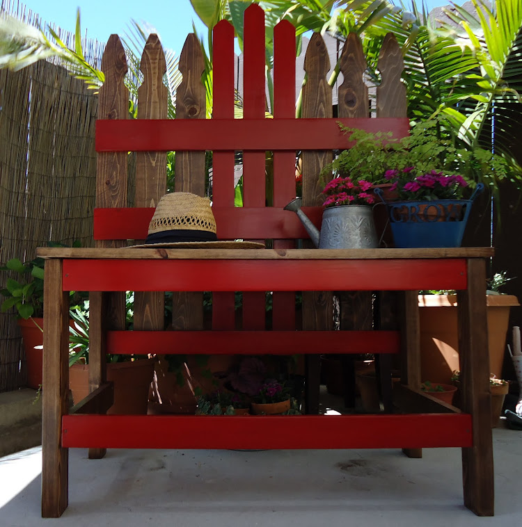 Vintage Style Picket Fence Bench - SOLD