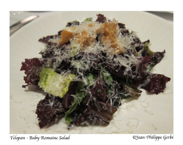Image of Baby romaine salad at Telepan on the UES in NYC, New York