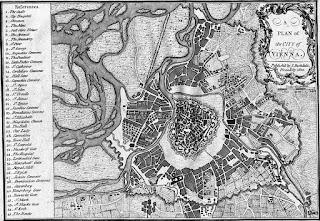 Plano de la ciudad de Viena, 1800