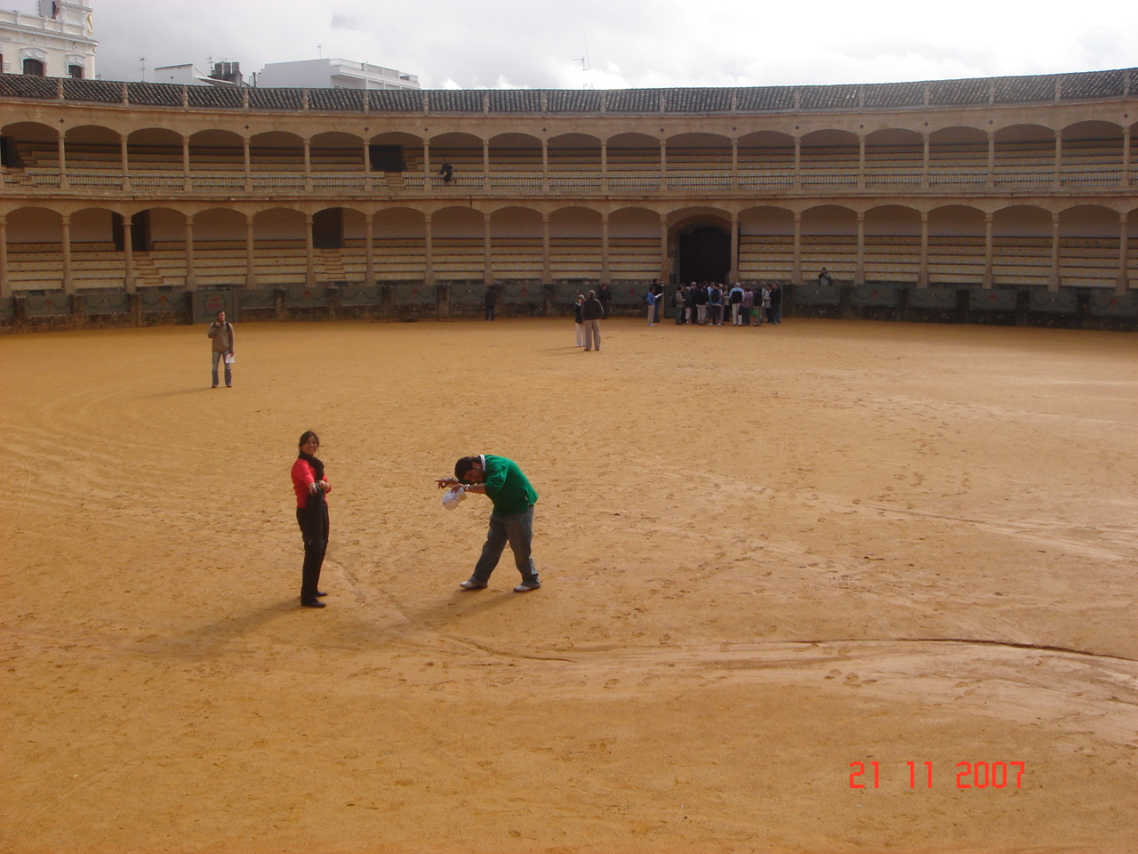 Mock Bull Fight at Ronda, Spain