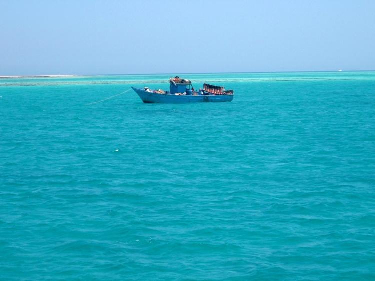 imagem de um barco no mar