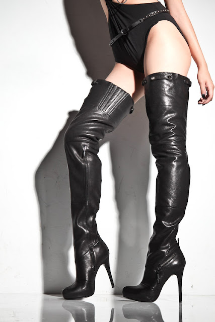 Thigh High Boots Leather6
