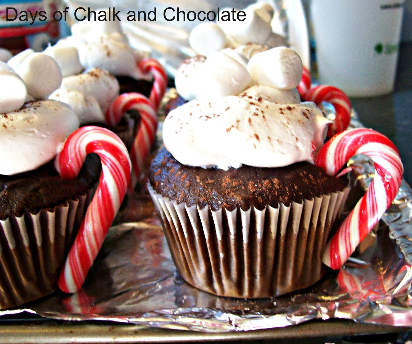 Hot Cocoa Cupcakes | Days of Chalk and Chocolate