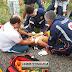 Acidente próximo a Diamante deixa dois jovens gravemente feridos