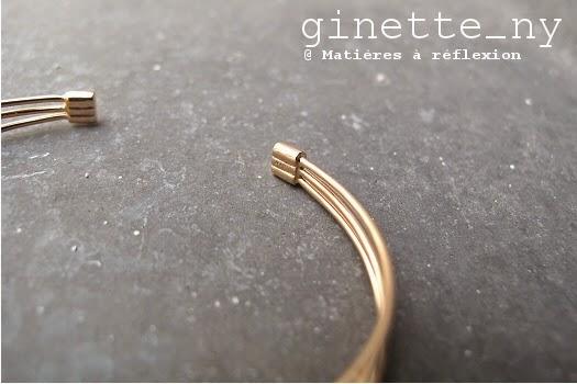 Ginette NY bracelet en or rose 18 carats