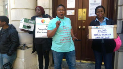 Nigerian gay activists in UK want Pres Buhari to repeal Gay law in independence day protest