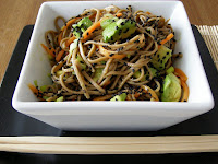 Black Sesame, Avocado and Soba Noodle Salad