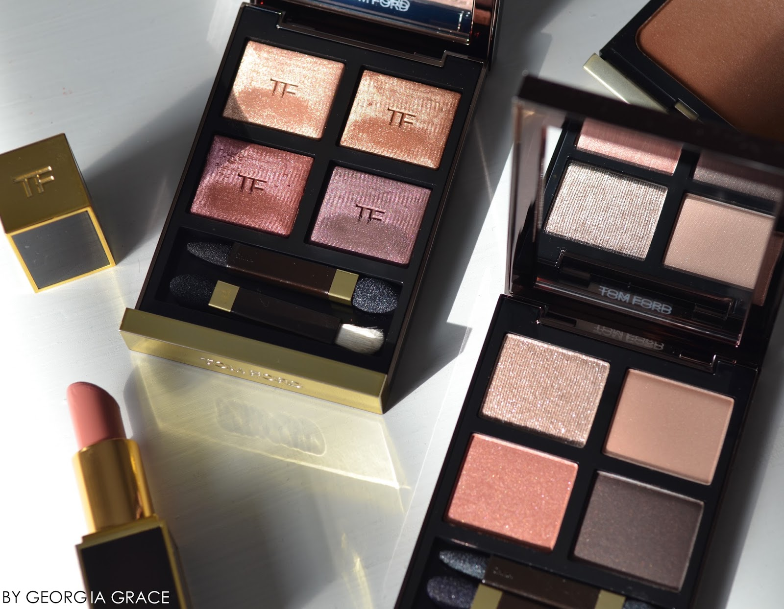 Tom Ford Spring 2016 Eye Quad Honeymoon Disco Dust Swatches Review FOTD