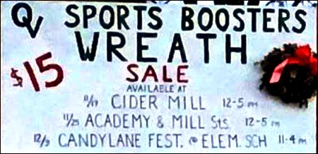 11-19/29/12-9 Oswayo Valley Sports Booster Wreath Sale