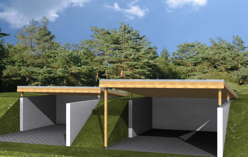 unser hausbau das carport bekommt ein dach. Black Bedroom Furniture Sets. Home Design Ideas