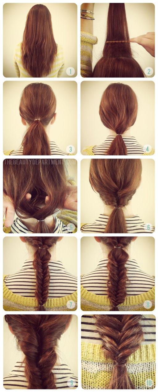 Как делать причёски самому себе в школу