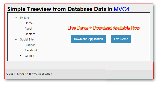 How To Create Treeview With Database Data In Mvc 4