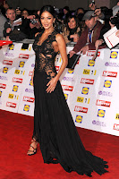 Nicole Scherzinger posing for photographers on the red carpet