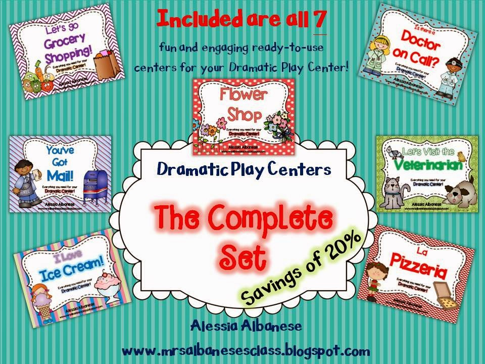 http://www.teacherspayteachers.com/Product/Dramatic-Play-Centers-The-Complete-Set-1249217