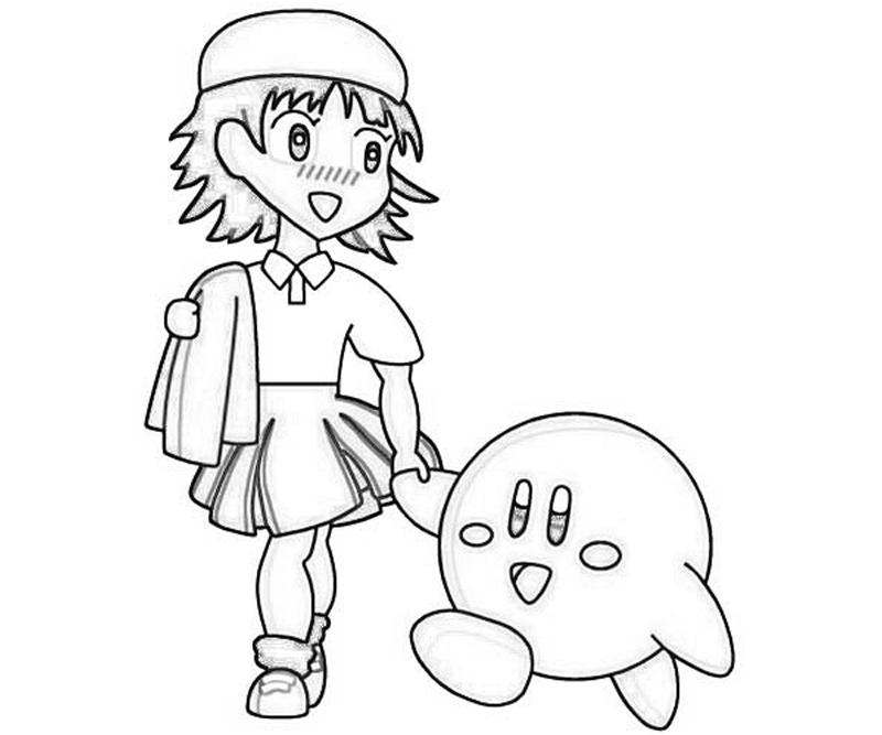 adeleine-and-kirbi-coloring-pages