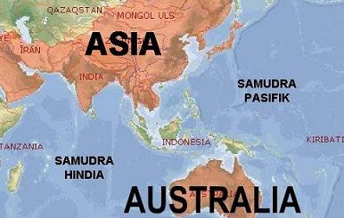 Peta Letak Geografis Wilayah Indonesia
