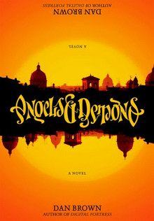 Cover of Angels and Demons, a novel by  Dan Brown