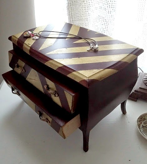 Spray Painted jewelry box