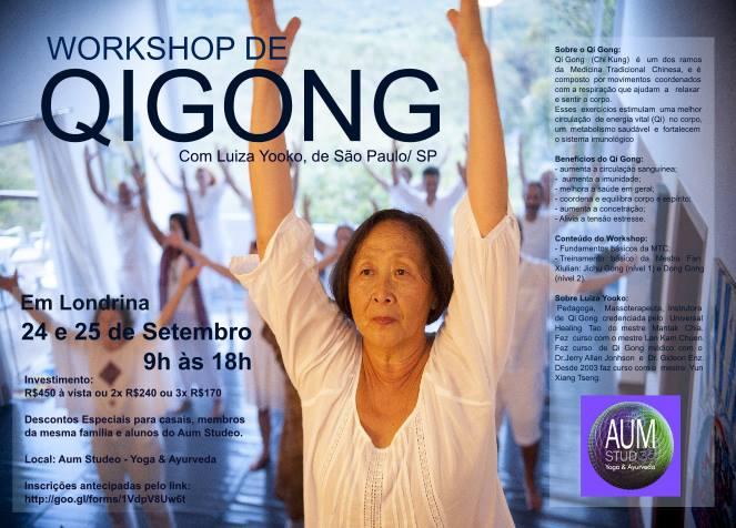 WORKSHOP DE QI GONG - COM LUIZA YOOKO/ SP