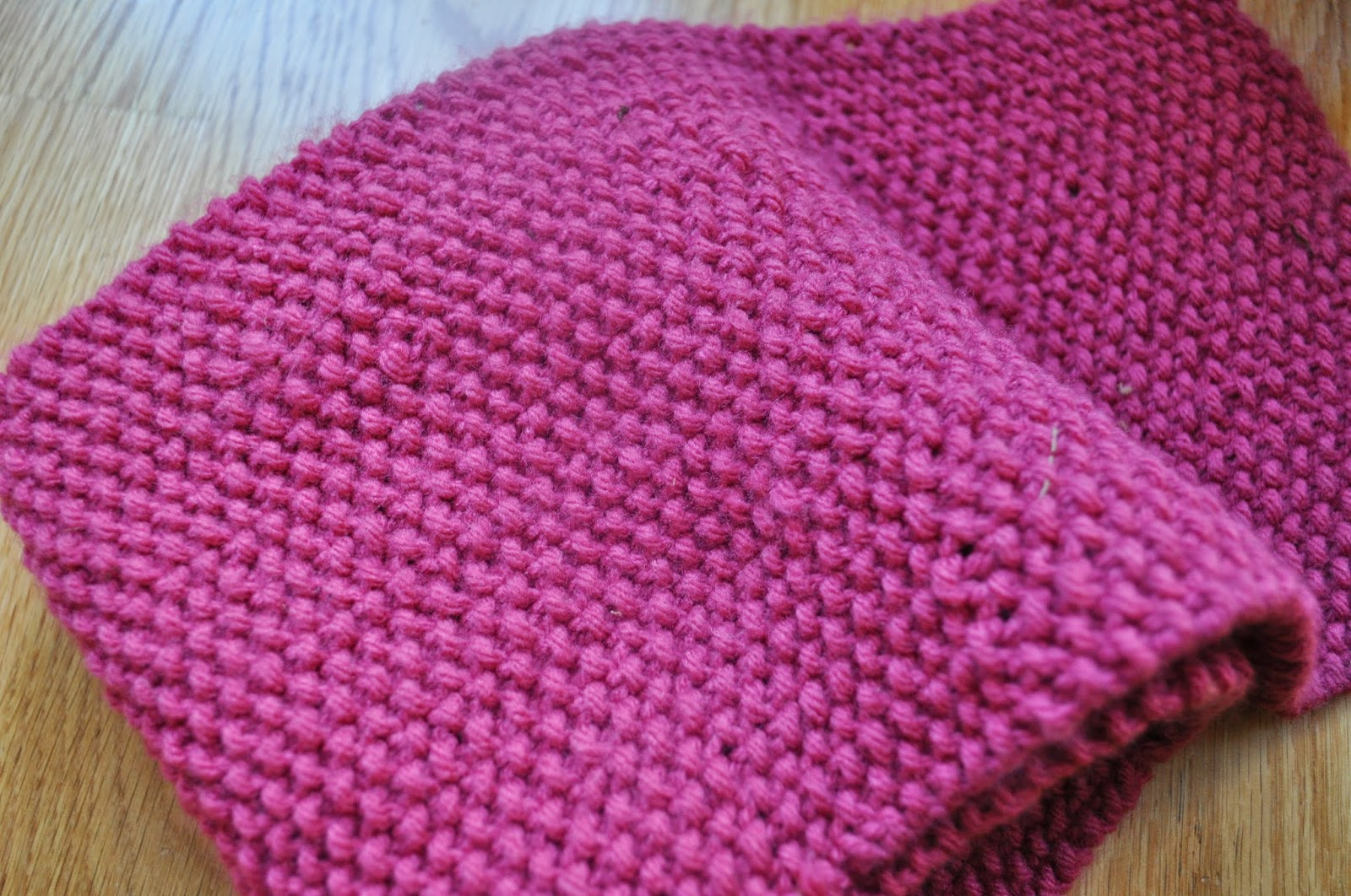 Knitting Stitches Seed Stitch : all this for them: The Pink Baron Scarf ~ Knitting Pattern