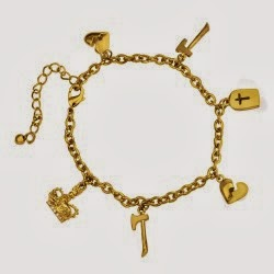 Henry VIII's wives charm bracelet