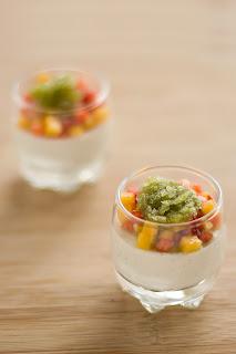 vanília fehér spárga krém spárgakrém thai bazsalikom granité granita jég eper mangó pohárdesszert pohár desszert