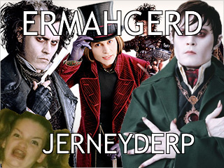 ermagerd girl, ermagerd johnny depp, jack sparrow, jernyderp, showtime showdown