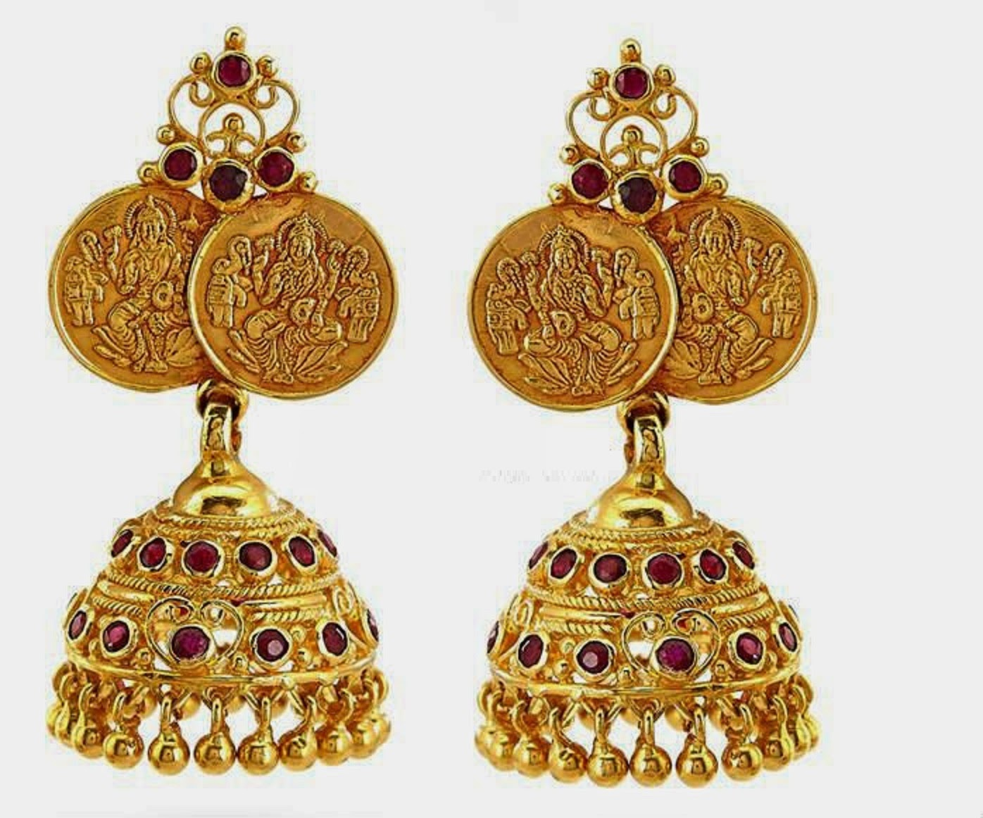 Beautiful Traditional South Indian Gold Jhumka Designs Wallpapers