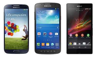 Samsung Galaxy S4 v/s Samsung Galaxy S4 Active v/s Sony Xperia Z
