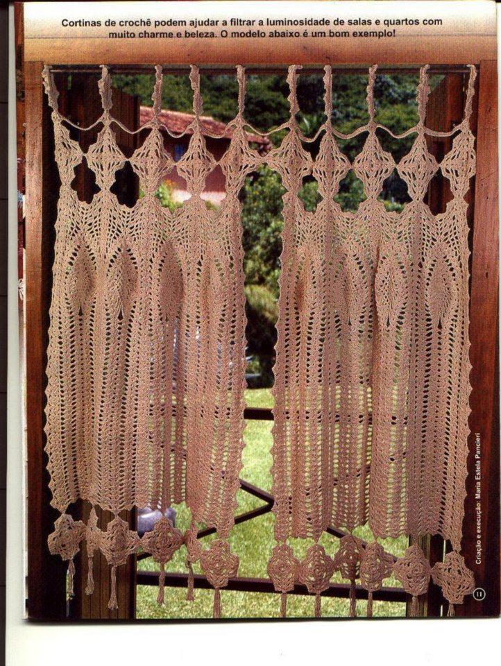 Cortinas De Baño A Crochet ~ Dikidu.com