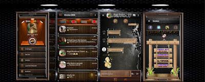 Download BBM MOD Dark Wood Themes APK