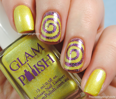 31DC2015 - Yellow - Swirls | Glam Polish - Tweety Pie