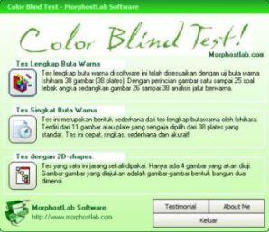 Software unik untuk menguji buta warna