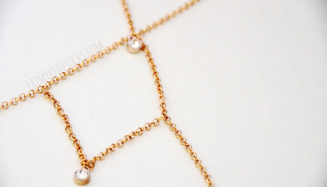 Born Pretty Store sells a variety of jewelry and accessories for cheap prices, like this golden rhinestone-embellished body chain.