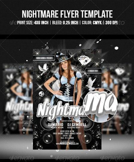 Nightmare Flyer Photoshop PSD Template