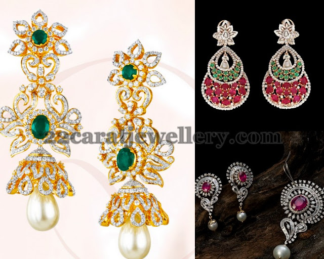 Heavy Earrings with Chic Pendant