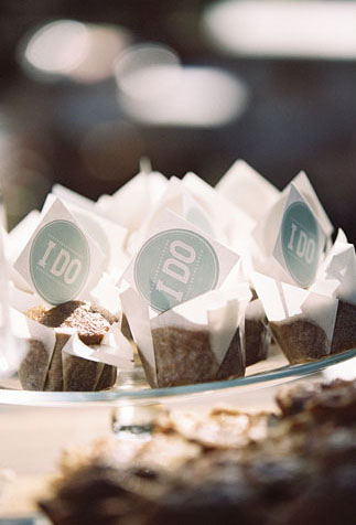 "GotPrint printed ""i do"" stickers placed on pastries on table"