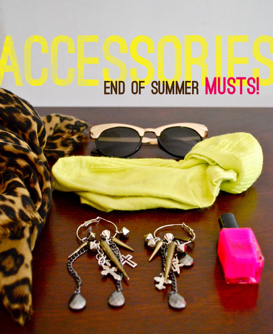 MY CLOSET: End of Summer style - leopard and neon accessories