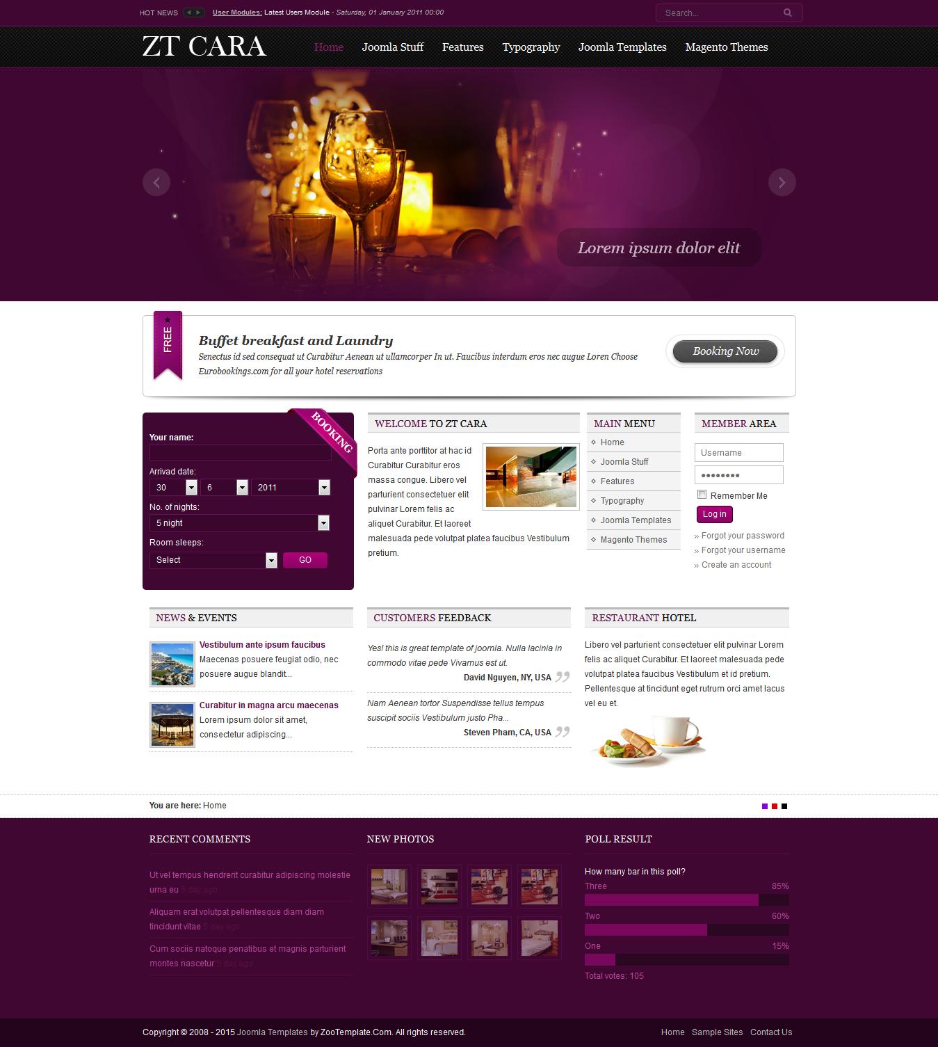 Share template ZT Cara - Joomla 1.5