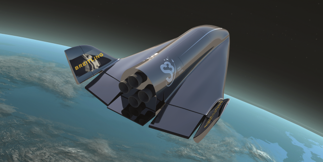 A 3D rendering of the Soar spaceplane. Credit: Swiss Space Systems