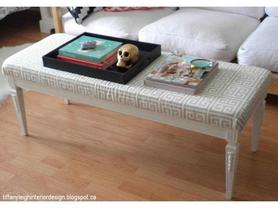 My diy greek key bench beautiful home interior design for Coffee tables homesense