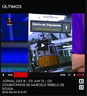 A referência pelo Prof. Marcelo Rebelo de Sousa, na TVI
