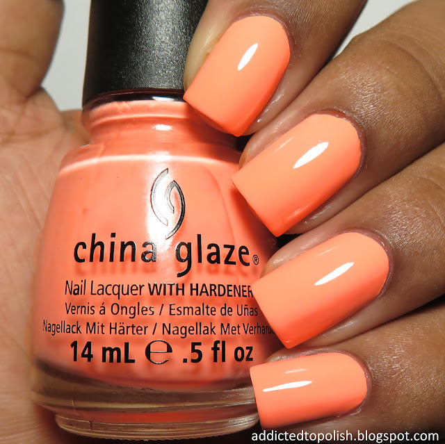 china glaze sun of a peach bleached neon