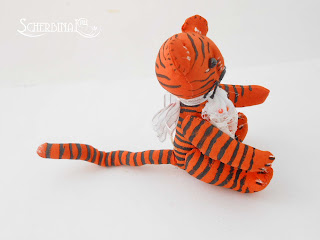 игрушка на елку тигр