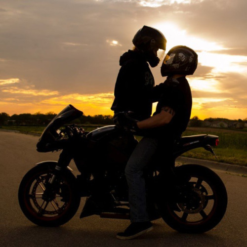 Galveston singles biker kiss