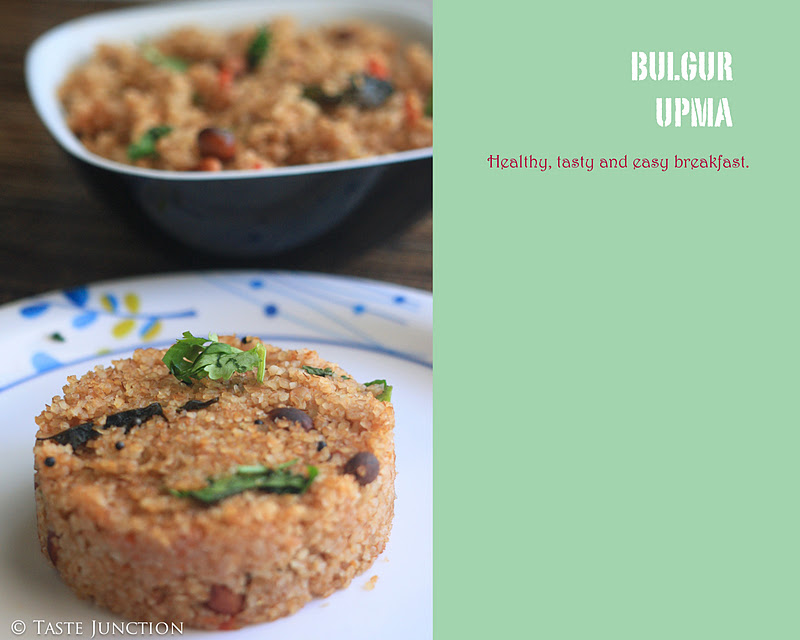 Healthy breakfast bulgur upma taste melanger i was always told half knowledge is dangerous yes it always proved true when i tried solving my algebra equations without knowing the formulas forumfinder Image collections